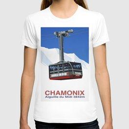 Chamonix Ski Resort , Aiguile du Midi Cable Car T-shirt