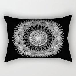 GEOMETRIC NATURE: DANDELION b/w Rectangular Pillow