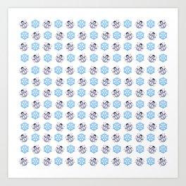 C1.3D Snowmoji Art Print