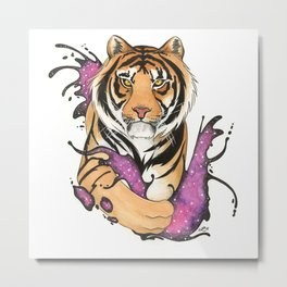 Galactic Tiger! Metal Print