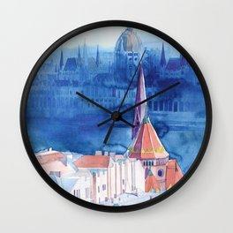 Morning in Budapest Wall Clock