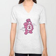 Don't Care Bear  Unisex V-Neck