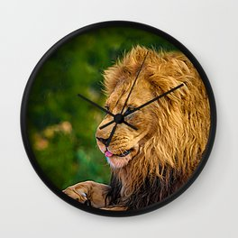 digitally painted poster Wall Clock