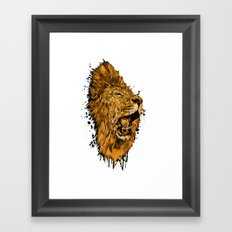 Golden Lion Framed Art Print