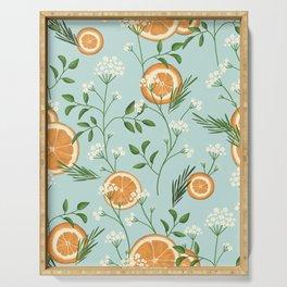 Elderflower & Oranges - Light blue Serving Tray