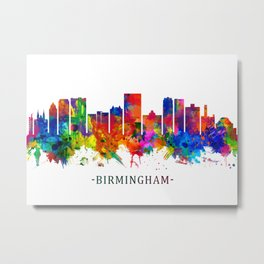 Birmingham Alabama Skyline Metal Print