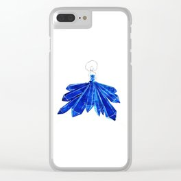 Lady Blue Clear iPhone Case