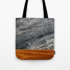 Marble and Wood 3 Tote Bag
