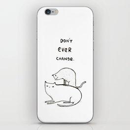 Slightly Threatening Romantic Cat iPhone Skin