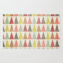 Whimsical Christmas Trees Rug