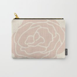 Rose Vintage Pink on Petal Cream Carry-All Pouch