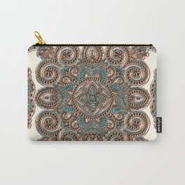 Vintage Luxe Pattern Carry-All Pouch