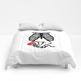 Funny Baseball Baby Skeleton Mama Child Comforters