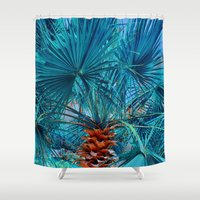 palm tree Shower Curtains featuring Palm Tree by DistinctyDesign