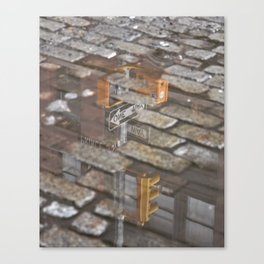 Street Reflection Canvas Print