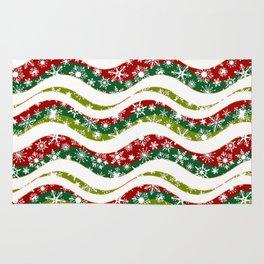Christmas waves and snowflakes Rug