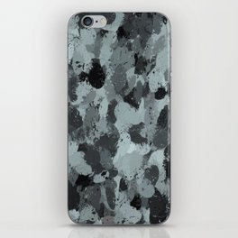 Black and Smokey Blue Pastels 3216 iPhone Skin