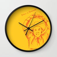 anchorman Wall Clocks featuring Anchorman: Dreams of Fantana!!! by Red Misery