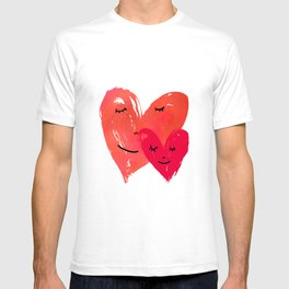 Watercolor couple of hearts T-shirt