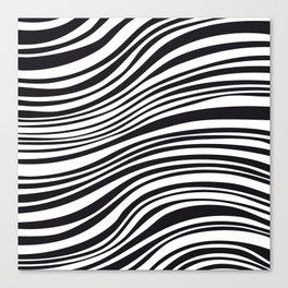 Modern Black & White Stipes - Zebra Animal Canvas Print