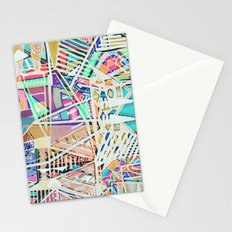 Geometric Abstract Lines Labirinth  Stationery Cards
