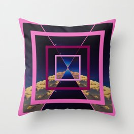 SPACE TIME AND TRAVEL Throw Pillow