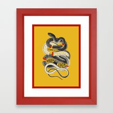 No. Never. Nowhere. Framed Art Print
