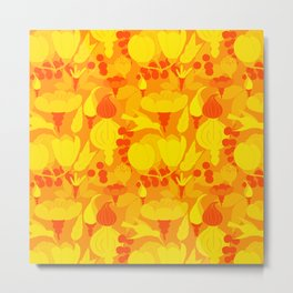 Garden pattern Metal Print