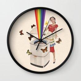 Rainbow Washing Machine Wall Clock