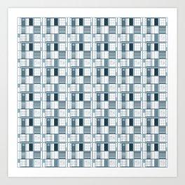 Other Blue-Cuadricula Art Print