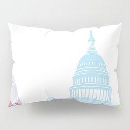 Washington DC skyline pop Pillow Sham