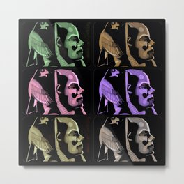 Pharaoh Colors Metal Print