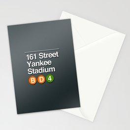 subway yankee stadium sign Stationery Cards