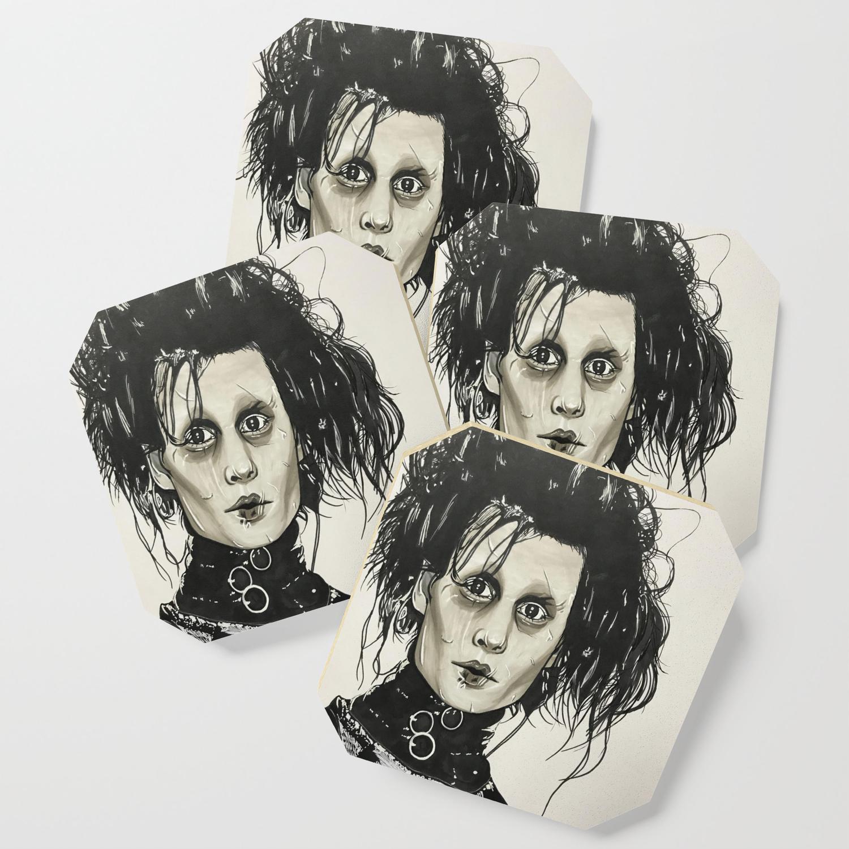 Edward scissor hands coaster