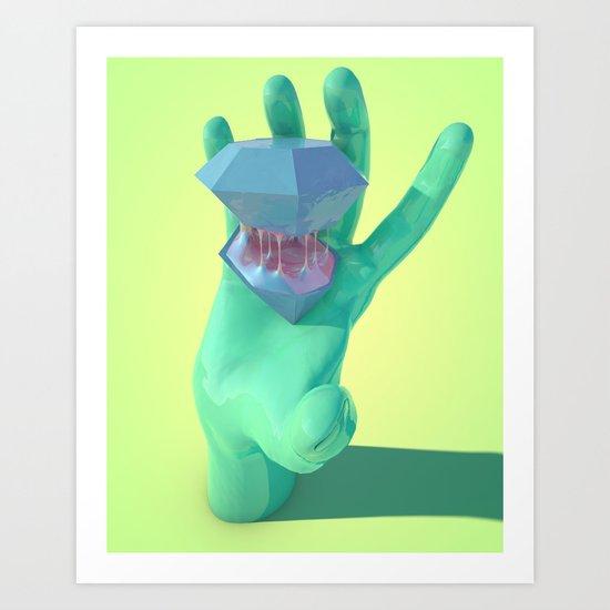 Purple Gusher Art Print