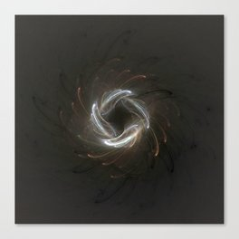 Metallic Swirl Fractal Canvas Print