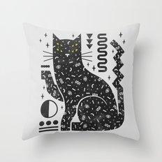 Magic Cat Throw Pillow