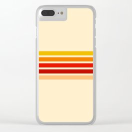 5 Colorful Stripes 22 Clear iPhone Case