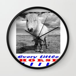 Every Little Horse  Wall Clock