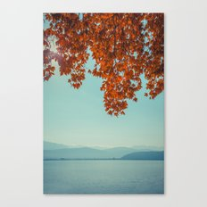 Autumn lights and summer serenity Canvas Print