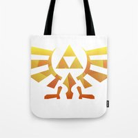triforce Tote Bags featuring Triforce by Wicttor