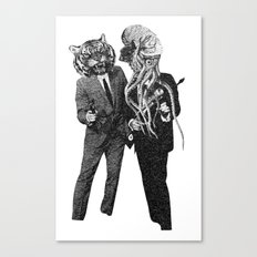The Made Us Detectives (1979) Monochrome Canvas Print