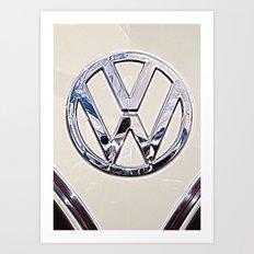 VW Camper Logo Badge Art Print