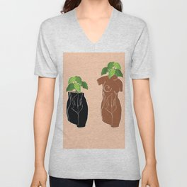 Planters in the Nude Unisex V-Neck