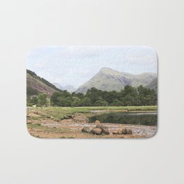 Here is realization - Glen Etive, Scotland Bath Mat