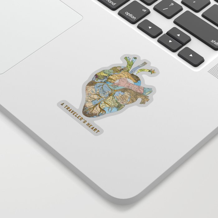 A Traveler's Heart Sticker