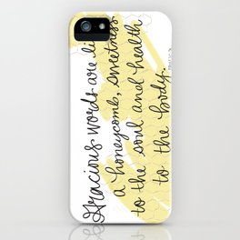 Honeycomb - Proverbs 16:24 iPhone Case