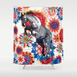 Hippie Horse Shower Curtain