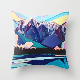 Mount Robson Reclaimed Throw Pillow
