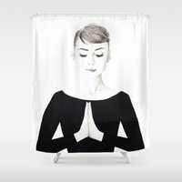 namaste Shower Curtains featuring NAMASTE by TEN-iD